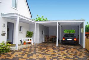 Carport Hauseingang kombinieren